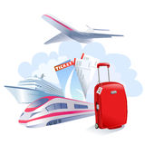 Travel icon isolated Royalty Free Stock Image