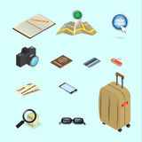 Travel icon isometric concept design Royalty Free Stock Photography