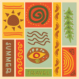 Travel icon in retro style Royalty Free Stock Photos