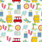 Travel icon seamless Royalty Free Stock Images