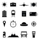 Travel icon set. The travel of icon set Royalty Free Stock Images