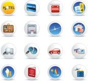 Travel icon set Royalty Free Stock Photography