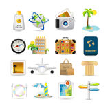 Travel icon set. Illustration of vacation and travel icons vector illustration