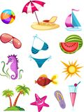 Travel icon set. Vector illustration of a travel icon set Royalty Free Stock Image