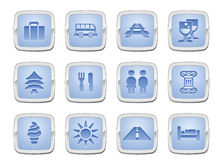 Travel icon set. Illustration of a travel icon set series Royalty Free Stock Images