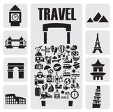 Travel  icon set Royalty Free Stock Images