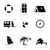 Travel icon set art illustration Stock Photography