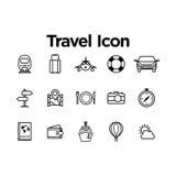 Travel Icon Set. With Background Stock Photos