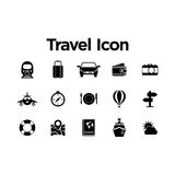Travel Icon Set Royalty Free Stock Photo