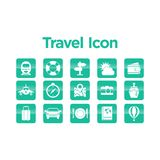 Travel Icon Set. With Background Stock Images