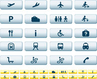 Travel icon set of buttons Stock Images