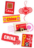 Travel icon set. China country travel icon set Stock Photos