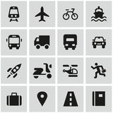 Travel icon set. On grey Royalty Free Stock Photo