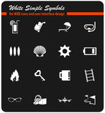 Travel icon set. Travel  icons for user interface design Royalty Free Stock Photo