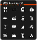 Travel icon set. Travel  icons for user interface design Stock Photos