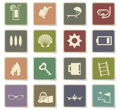 Travel icon set. Travel  icons for user interface design Royalty Free Stock Image