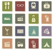 Travel icon set. Travel  icons for user interface design Royalty Free Stock Photos