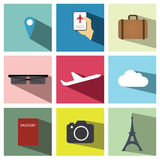 Travel icon set illustration eps10 Stock Photography