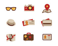 Travel Icon Set Stock Photos
