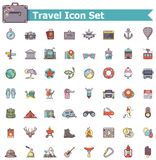 Travel icon set. Set of the travel related icons Stock Images