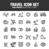 TRAVEL ICON SET 25 royalty free illustration