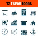 Travel Icon Set royalty free illustration