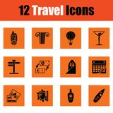 Travel icon set stock illustration
