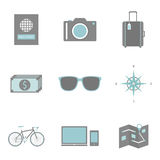 Travel icon Royalty Free Stock Photography