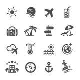 Travel icon set, vector eps10 Stock Photos