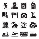 Travel icon set. Vector illustration Graphic Design symbol Stock Photos