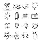 Travel icon set vector illustration Royalty Free Stock Photography