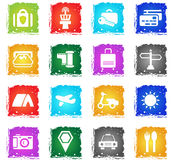 Travel icon set Stock Images