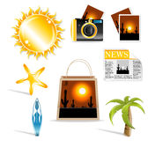 Travel icon. Set for your business royalty free illustration