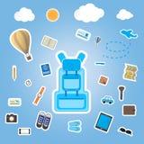 Travel icon sitcker flat design Stock Photo