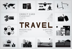 Travel icon Royalty Free Stock Photo