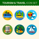 Travel icon vector Stock Photos