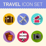 Travel icon vector Royalty Free Stock Photography