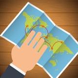 Travel Icon, Vector illustration Royalty Free Stock Photos