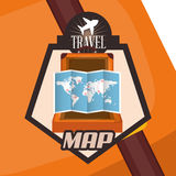 Travel Icon, Vector illustration Stock Images