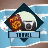 Travel Icon, Vector illustration Royalty Free Stock Photos
