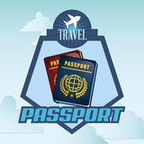 Travel Icon, Vector illustration Royalty Free Stock Image