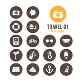 Travel icon. Vector illustration. Royalty Free Stock Photography