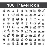 100 travel icon Royalty Free Stock Image