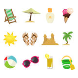 Travel icons Stock Image