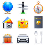 Travel icons. Royalty Free Stock Photography