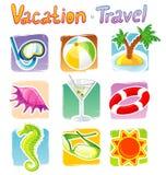 Travel icons Stock Image