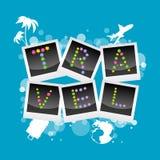 Travel icons Stock Photo