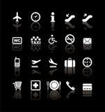 Travel icons. Set of white travel icons Stock Photography