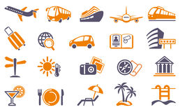 Travel Icons Royalty Free Stock Images
