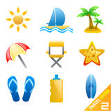 Travel icons 2 Royalty Free Stock Images